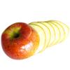 برش سیب به شکل چیپسی برای تولید سیب خشک