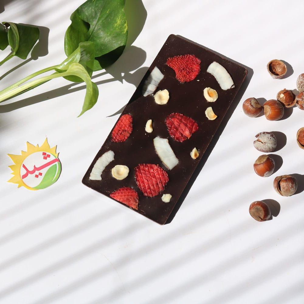 شکلات تبلتی نارگیلی فندوقی توتفرنگی